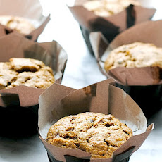 Orange Scented Walnut-Banana Muffins with Cacao Nibs