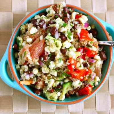 Black Bean, Quinoa and Citrus Salad