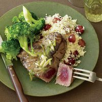 Tuna Steaks with Broccoli and Couscous