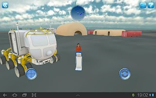 Screenshot of NASA Desert RATS Virtual Site