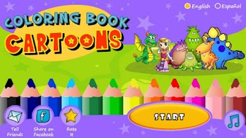 Screenshot of Coloring Book - Cartoons Free