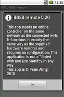 Screenshot of BBSB Remote
