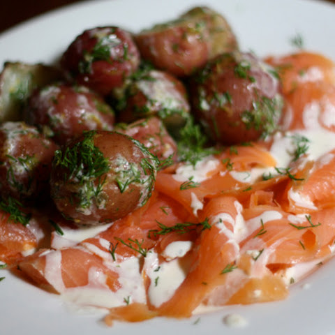 salmon with lemon dill creme fraiche recipe yummly hot smoked salmon ...