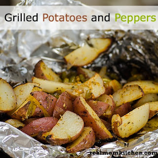 Grilled Potatoes and Peppers