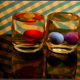 Floating Globes by Prasanta Das - Artistic Objects Glass ( water, balls, glasses, floating )