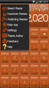 SCalc Leather Theme - screenshot