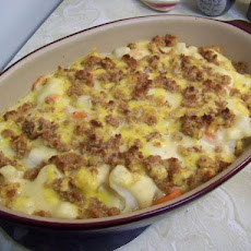 Cauliflower and Carrot Gratin