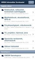 Screenshot of HWSW Fórum Android kliens