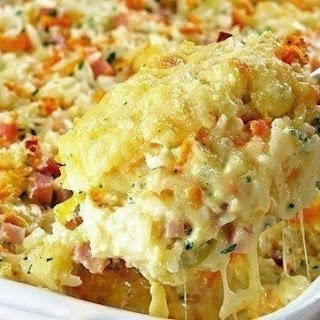 Rice, Ham And Cheese Casserole