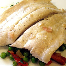 Fresh Sole Fish with Pea Salad