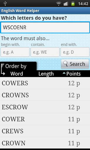 English Word Finder