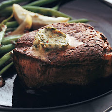 Filets Mignons with Spiced Butter, Glazed Artichokes, and Haricots Verts