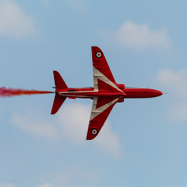 Maltese airshow with the Red Arrow by Luke Bezzina - Transportation Airplanes ( red arrows, malta, show, close up, airshow )