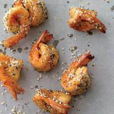 Everything-Seeded Shrimp with a Schmear
