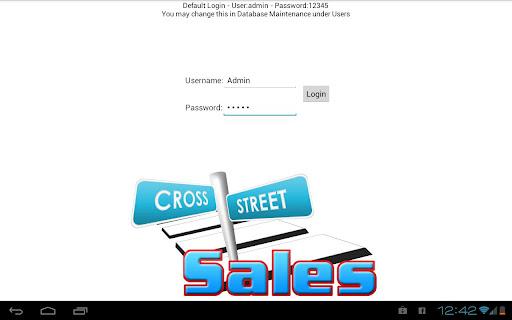 CrossStreet Sales Catalog PoS
