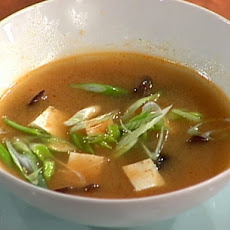 Miso Soup with Vegetable Stock and Tofu