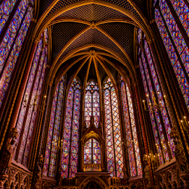 The Glass Cathedral by Bill Higginson - Buildings & Architecture Other Interior ( history, interior, church, churches, france, architecture, historical, historic, stained glass )