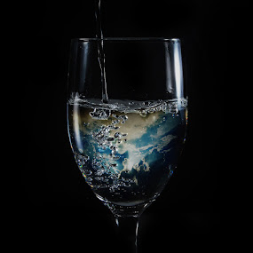 a glass of heaven by Christian Setiawan - Artistic Objects Glass ( editing, heaven, glass, digital )