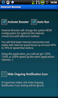 Screenshot of Internet Booster (root)