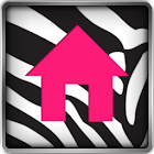 Go Launcher Themes Pink Zebra icon
