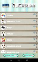 Screenshot of Tarjetas educativas en español