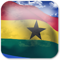 3D Ghana Flag icon