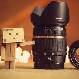 Lens vs Danbo by Hasnain Rizvi - Artistic Objects Toys ( danbo, danboard, minolta, tamron,  )