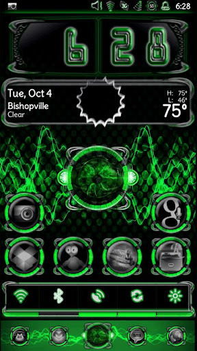 Bionic Launcher Theme Green
