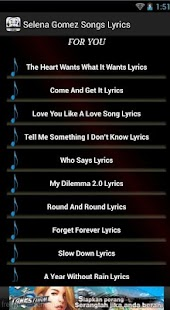 Selena Gomez Songs - screenshot