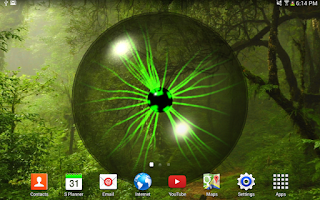 Screenshot of Plasma Orb Free Live Wallpaper