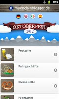 Screenshot of Oktoberfest App 2012