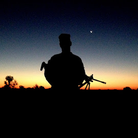 Forever Vigilant by Michael Griffin - People Portraits of Men ( army, soldier, sunrise, morning, military )