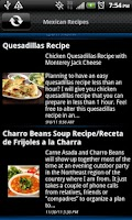 Screenshot of Mexican Recipes