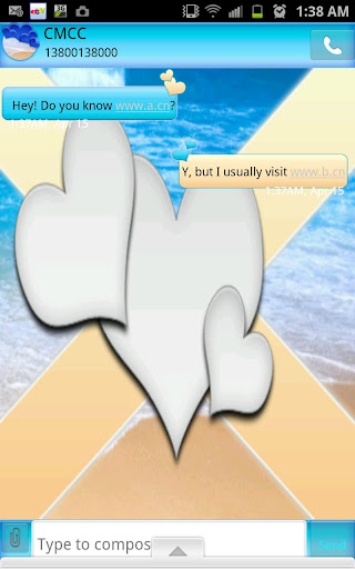 GO SMS - Beach Love SMS