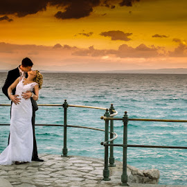 sunset by Sinisa Mrakovcic - Wedding Bride & Groom (  )