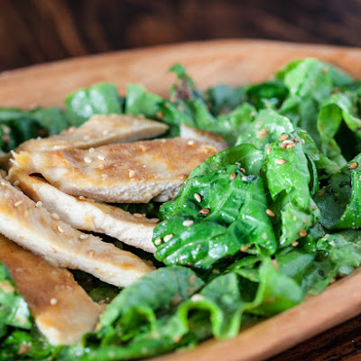 Chicken Salad with Sesame-Miso Dressing