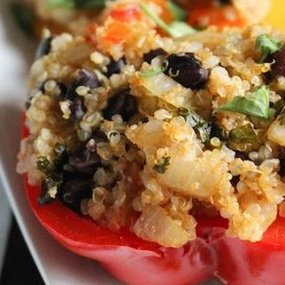 Mexican Stuffed Peppers With Quinoa & Black Beans