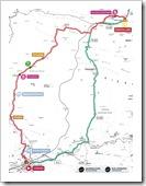Itinerario de esta cuarta etapa.