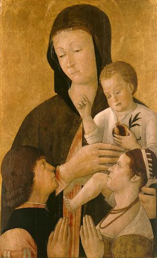 Bellini Gentile, Madonna con bimbo e donatori