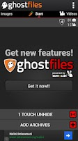 Screenshot of Hide pictures GhostFiles Vault