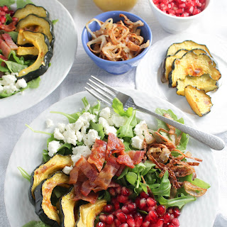 Autumn Arugula Salad with Roasted Acorn Squash
