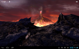 Screenshot of Volcano 3D Live Wallpaper