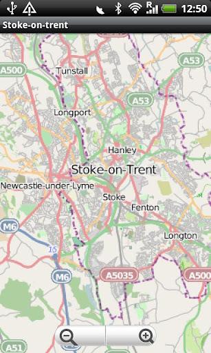 Stoke-on-Trent Street Map
