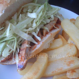 Barbequed Pork Chop Sandwiches with Coleslaw