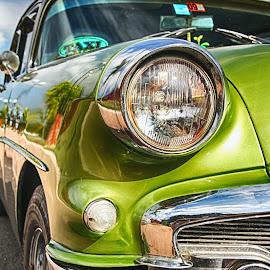 Clasico by Sandra Carbone - Transportation Automobiles ( verde, clasico )