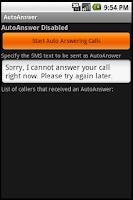 Screenshot of Auto Answer