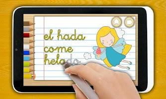 Screenshot of Playkids spanish handwriting