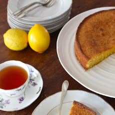 Gluten-Free Meyer Lemon, Cornmeal & Almond Cake