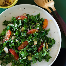 Simple Blood Orange and Kale Salad with a White Balsamic Vinaigrette