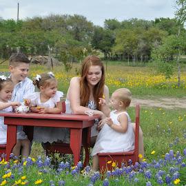 Spring Picnic by Donna Cole - Babies & Children Child Portraits ( cacnmao@gmail.com, cass12@hotmail.com, destiny.olson@victoriacollege.edu, drcole705@yahoo.com, quick8_98@gmail.com, chadolson1978@gmail.com,  )
